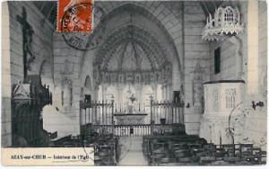 Voute du coeur église Azay-sur-Cher