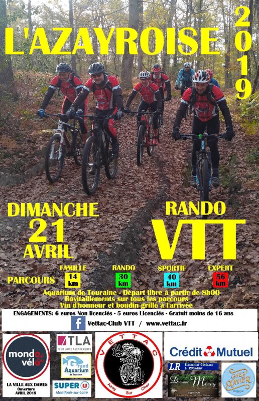 Rando VTT L'Azayroise 2019